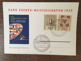 ALLEMAGNE KANU EUROPA MEISTERSCHAFTEN CHAMPIONNATS D'EUROPE DE CANOË 1959 - [7] République Fédérale
