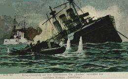 """Kriegsschauplatz Auf Den Weltmeeren. Die ,,Emden"""" Vernichtet Den Russischen Kreuzer ,,Semtschug"""". WWI WWICOLLECTION - Weltkrieg 1914-18"""
