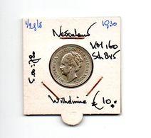 NEDERLAND 1/2 GULDEN 1930 ZILVER WILHELMINA - 1/2 Gulden