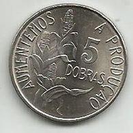 Sao Tome E Principe 5 Dobras 1977. High Grade FAO - São Tomé Und Príncipe