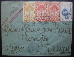 MADAGASCAR: N°272(x2)+273+312 Sur Lettre De NOSSI-BE De 1948 Pour Décines (Isère) - Covers & Documents