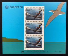 Portogallo Madeira 1986  Europa Cept 1986 Foglietti Set - Emissions Locales