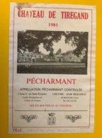 15278 - Château De Tiregand 1981 Pécharmant - Bergerac