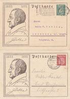 """Deutsches Reich / 1932 / Gedenkpostkarten Mi. P 213 Und P 214 """"Goethe"""" Je Bedarfsgestempelt (BT22) - Germany"""