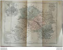 1853 CARTE DE LA MARNE - ATLAS DE LA FRANCE ILLUSTÉE - CHALONS - NESLE LA REPOSTE - EPERNAY - REIMS - ETC ... - Libri, Riviste, Fumetti