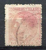 Yv. 1879 N°  185  (o)  10c  Rose  AlphonseXII   Cote  0,45  Euro  BE    2 Scans - Usados
