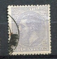 Yv. 1879 N°  187  (o)  25c  Bleu-gris  AlphonseXII   Cote  0,6  Euro  BE    2 Scans - Usados