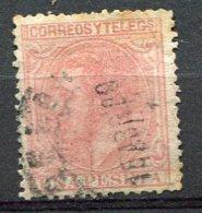 Yv. 1879 N°  190  (o)  1p  Rose  AlphonseXII   Cote  2,25  Euro  BE R   2 Scans - Usados