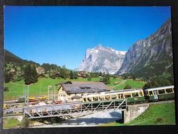 Grindelwald Bahnstation Grund/Lütschinenbrücke/ Züge - BE Berne