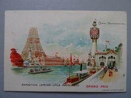 Exposition Lefèvre-Utile Paris 1900 Carte Transparente - Exhibitions