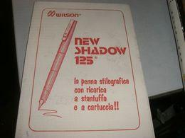 FOGLIO CARTA ASSORBENTE PUBBLICITARIO PENNA WILSON NEW SHADOW 125 - Stylos