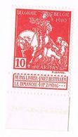 N° 91 10c+(C Karmijn/Carmin ** Postfris - Côte 10€ - 1910-1911 Caritas