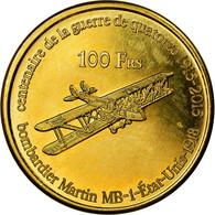 Monnaie, France, 100 Francs, 2015, Paris, Bassas Da India, SPL, Bronze-Aluminium - Colonies