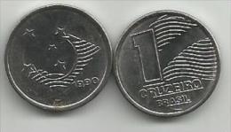 Brazil 1 Cruzeiro 1990. KM#617 High Grade - Brésil