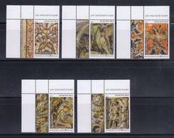 Greece 2015 Mount Athos Wood Carving Part II Complete Set Upper Left Side Corner Copies With Inscription MNH - Nuovi