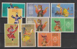 Bhoutan 1964 Danses Folkloriques 19-27 9 Val ** MNH - Bhutan