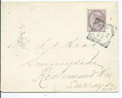 Great Britain Victoria 1d Pale Lilac Birmingham Kk57 1885 Squared Circle Richmond Backstamp - 1840-1901 (Victoria)
