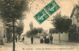 ARGENTEUIL LA POSTE RUE D'ENGHIEN ET RUE DE LA BUCHETTE A LA COLONIE - Argenteuil