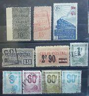 France COLIS POSTAUX,  Lot De 10 Timbres Dont No 21,30 205, Petits Colis No 21, 27 , Ensemble TB Cote 46 Euros - Parcel Post