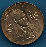 SAN MARINO 200 LIRE 1984 KM# 166 Enrico Fermi - Saint-Marin
