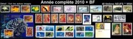 POLYNESIE Année Complète 2010 + BF (NEUF ** MNH) : Yv. 898 à 934 Dont Carnet + BF 36  (40 Tp)  ..Réf.POL25078 - Polynésie Française