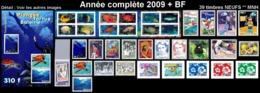 POLYNESIE Année Complète 2009 + BF (NEUF ** MNH) : Yv. 862 à 897 Dont Carnet + BF 35  (39 Tp)  ..Réf.POL25077 - Polynésie Française