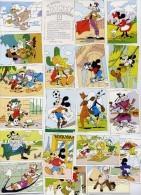 """Lot Complet Des 20 Images Disney Celor """"Mickey Chez Ton Boulanger-patissier"""" à Coller Sur Un Poster Album 1987 - Oude Documenten"""