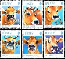 JERSEY Races Bovines De Jersey 6v 13 Neuf ** MNH - Jersey