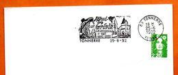 89 TONNERRE ALFRED GREVIN 1992 Lettre Entière N° VW 545 - Poststempel (Briefe)