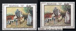 YT N° 2297 - Mur Beigne Au Lieu De Bleu Signé Calves + Normal - Neufs ** - Errors & Oddities