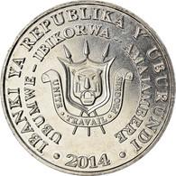Monnaie, Burundi, 5 Francs, 2014, Oiseaux - Bucorve Du Sud, SPL, Aluminium - Burundi
