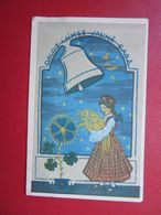 Happy Birthday Postcard Latvia /   Zariņ - Celmina   Postal Used In Y1943 - Lettonia