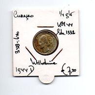CURACAO 1/4 GULDEN 1944D ZILVER WILHELMINA - Curaçao
