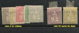 1881. 50c Et 1-F Or Neuf Charnière. Cote 37-euros.  Et Les Autres En Cadeau - Unused Stamps
