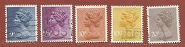 Timbre Grande-Bretagne Elisabeth II N° 780 - 781 - 782 - 783 - 785 - 1952-.... (Elizabeth II)