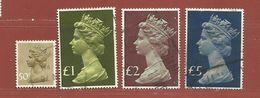 Timbre Grande-Bretagne Elisabeth II N° 821 - 822 - 823 - 824 - 1952-.... (Elizabeth II)