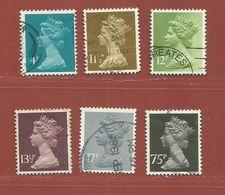 Timbre Grande-Bretagne Elisabeth II N° 900 - 901 - 902 - 904 - 906 - 908 - 1952-.... (Elizabeth II)