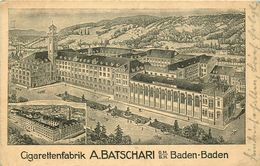 ALLEMAGNE  BADEN BADEN  Cigarettenfabrik  A.BATSCHARI - Baden-Baden