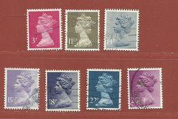 Timbre Grande-Bretagne Elisabeth II N° 965 - 966 - 967 - 968 - 969 - 970 - 971 - 1952-.... (Elizabeth II)