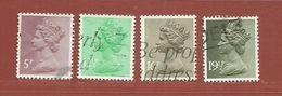 Timbre Grande-Bretagne Elisabeth II N° 1017 - 1018 - 1019 - 1020 - 1952-.... (Elizabeth II)