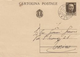 """9882-INTERO POSTALE - ANNULLO AMBULANTE """"MESS.POLA-TRIESTE""""-1938 - Marcophilia"""