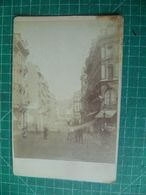 Liège. Rue Animée. Photographie Originale. Vers 1880 - Oud (voor 1900)