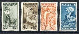 Saar, Saargebiet, 1926, Volkshilfe, Aiding The People, Nursing, Health Care, MNH, Michel 104-107 - Allemagne