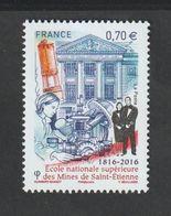 TIMBRE - 2016  -   N° 5066 - Bicentenaire De L'Ecole Des Mines De Saint Etienne   -  Neuf Sans Charnière - France