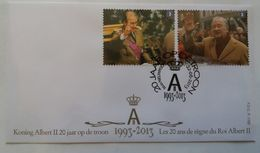"Belgique COB N°4350/1 Sur FDC   "" Roi Albert II "" - FDC"