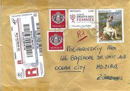 Monaco 2019 Herculis Renoir Painting Women Rights Armory Registered Cover - Monaco