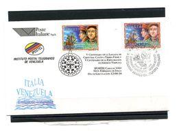 CHRISTOPHE COLOMB ET VESPUCCI SUR FDC EMISSON COMMUNE VENEZUELA ITALIE 1998 - Joint Issues