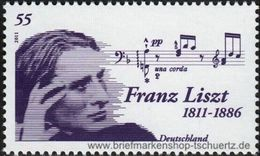 2011Germany2846200 Years Of Franz Liszt - Unused Stamps