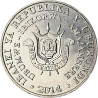 Monnaie, Burundi, 5 Francs, 2014, Oiseaux - Râle Ponctué, SPL, Aluminium - Burundi