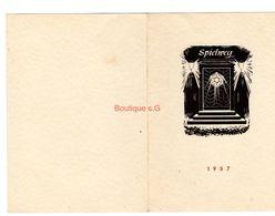 Lettre Fax 1957 Stemmle Fuch 1957 Bonne Année Spielweg Societe Allemand Serieye Remerciement Obermunsteral - Manuscritos